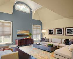 paint color ideas for living room with gray and cream wall ideas