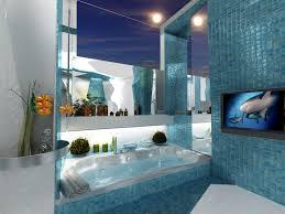 Royal Blue Bathroom Decor by Ocean Blue Walls Bathroom Home Combo
