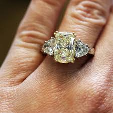 fancy yellow diamond engagement rings 4 45ct fancy yellow cushion cut diamond engagement ring with
