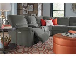 Lazyboy Sectional Sofas La Z Boy Aspen Seven Reclining Sectional Sofa With