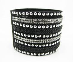 rhinestone leather wrap bracelet images Wrap bracelet leather wrap bracelet magnetic wristband crystal jpg