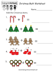 christmas math worksheet free kindergarten holiday worksheet for