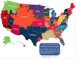 Map Of Casinos In Michigan by Facebook Releases Map Of Most Popular Nfl Teams By County U2013 One