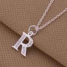 charm necklace with letters images An217 top quality silver letters k and r pendant necklace with jpg