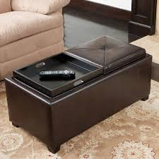 Storage Bench Marcus 2 Tray Top Bonded Leather Storage Bench