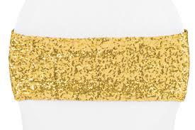 spandex chair bands glitz sequin spandex chair band gold cv linens
