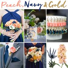 winning color combos in the navy blue peach and gold wedding inspiration fiftyflowers the blog