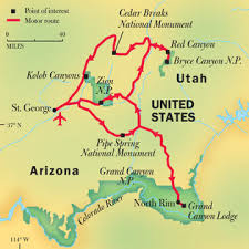 grand national park map grand bryce and zion national parks national geographic