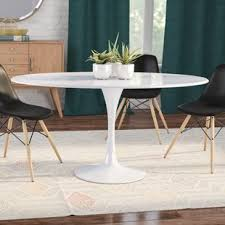 oval glass dining table oval kitchen dining tables you ll love wayfair