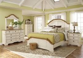 affordable off white bedroom set design tree painting accent wall