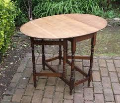 Small Folding Vintage Oval Oak Drop Leaf Gate Leg Dining - Gateleg kitchen table