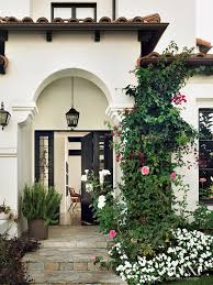 transitional spanish bungalow entrance luxe interiors design