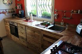 meuble de cuisine en palette construire meuble cuisine en palette bois fabriquer de newsindo co