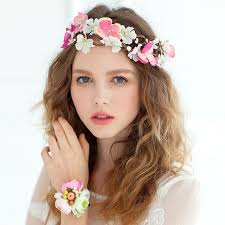 headband flowers bridal flower garland floral wedding accessory headband