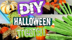 diy halloween treats 3 easy halloween treat ideas youtube