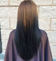 hair color dark on top light on bottom sleek and sexy hair beauty with ombre straight hair