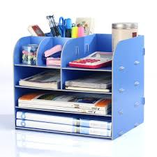 Blue Desk Accessories Diy Office Organizer Wooden Office Desk Sets Desk File Organizer