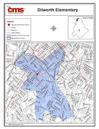 Charlotte Map Dilworth Elementary Boundary Map