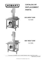parts catalog catalog of replacement parts 6614 meat saw