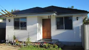 sydney house cladding renovation before and after video youtube