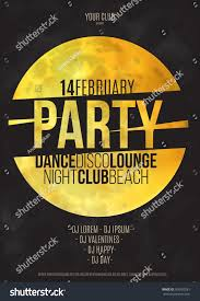 lounge bar party poster vector background stock vector 366705281