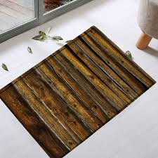 Vintage Bathroom Rugs Vintage Wood Grain Water Absorption Bathroom Rug Brown W Inch L