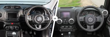 gray jeep renegade interior jeep renegade vs wrangler which is best carwow