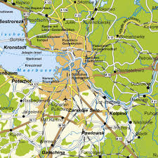 Map Of Eastern Europe And Russia by Map St Petersburg And Surrounding Maps And Directions At Map