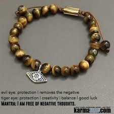 charm bracelet with evil eye images Yoga bracelets protection tiger 39 s eye evil eye chakra jewelry jpg