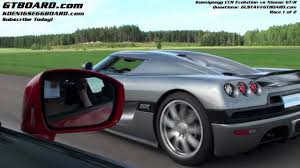 koenigsegg ccx back hd nissan gtr vs koenigsegg ccr evolution race 1 2 youtube