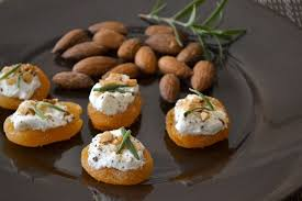 healthy canapes recipes apricot goat cheese canapés recipe goat cheese goats and almonds