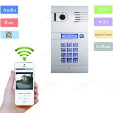 mobile vdp wireless ip video door phone with code wifi doorbell
