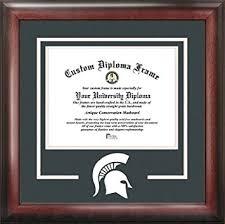 michigan state diploma frame michigan state spartans college mascot