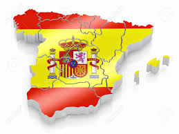 Map In Spanish Map Of Spain In Spanish Flag Colors 3d Stock Photo Picture And