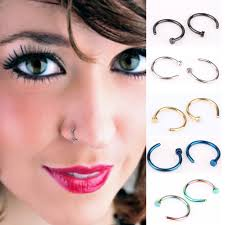 aliexpress nose rings images Suti 1pcs fake lip ring c clip nose ring kylie lip piercing falso jpg