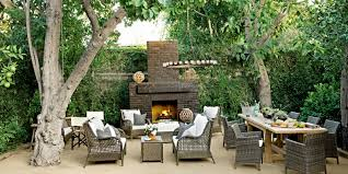 Patio Furniture Placement Ideas by Outdoor Fireplace Fall Decor 50 Patio And Outdoor Room Design