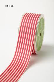 ribbon grosgrain 1 5 inch grosgrain ivory striped ribbon may arts wholesale ribbon