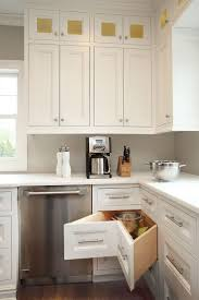 kitchen room white wall cabinet or storage fitted granite