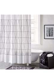 Checkered Shower Curtain Black And White by Shower Curtains Nordstrom