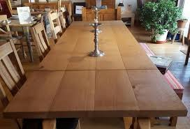Refectory Dining Tables Sussex English Oak Extending Boarded Refectory Dining Table