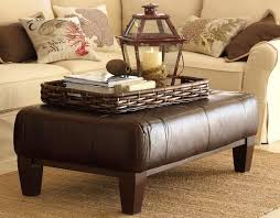 Ottoman Coffee Table Leather Ottoman Coffee Table With Tray Picadilly Pinterest
