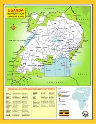 Map Of Uganda Border Management Directorate Of Citizenship And Immigration Control