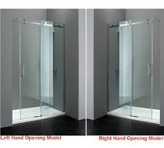 1400mm x 800mm frameless sliding shower enclosure 8mm glass