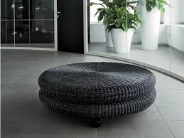 Pouf Coffee Table Woven Wicker Pouf Coffee Table Melange Dolcefarniente By Dfn