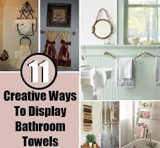 11 creative ways to display bathroom towels diy home things