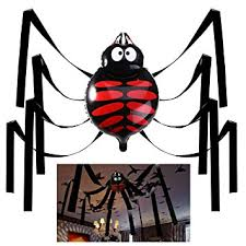Haunted House Decorations Amazon Com Halloween House Decorations 20 Feet Giant Spider
