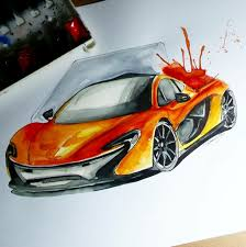 mclaren logo drawing watercolor car drawing sümeyye önder draw to drive