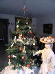 beautiful antique german christmas tree with hand blown glass