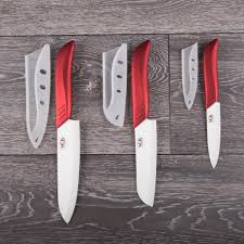 ceramic knife set 6 pcs chef kitchen knives santoku and paring vos