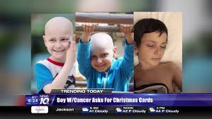 9 year old boy dying of cancer celebrating christmas early asks
